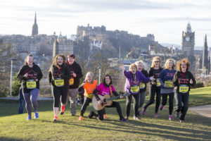 We have groups of runnres, walkers, cyclists etc in Sing in the City. The members arrange to go out together or take part in organised events. This was to promote the Great Winter Run, we were also invited to appear on their TV programme in a pre recorded interview