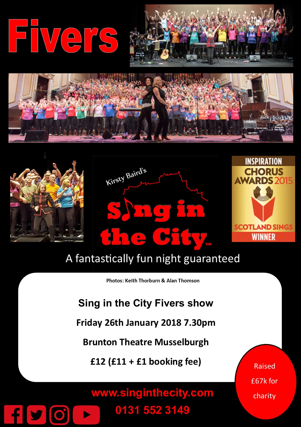 Poster for Sing in the City Fivers @ Brunton Theatre