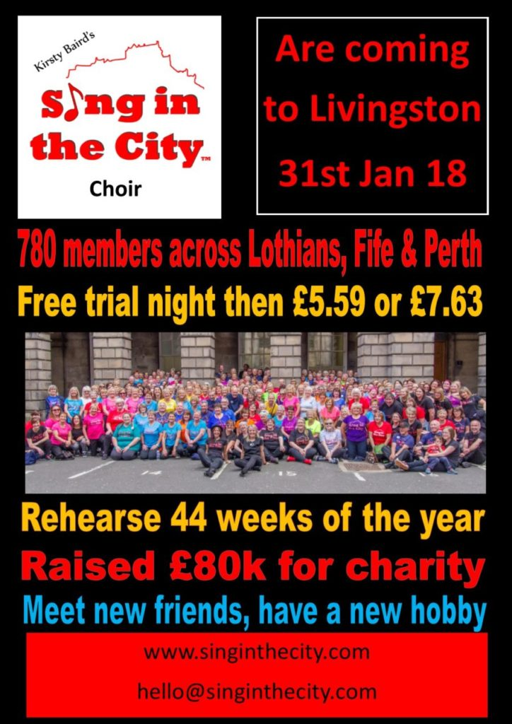 Poster for Sing in the City are coming to Livingston