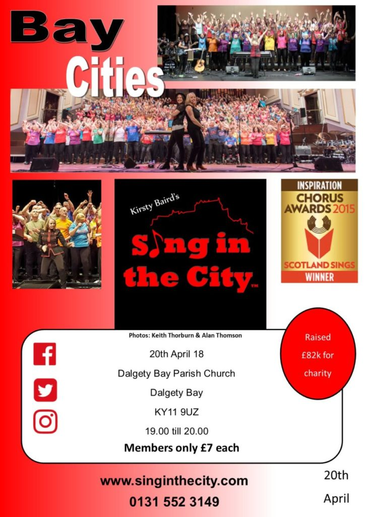 Poster for Sing in the City Bay Cities – First performance