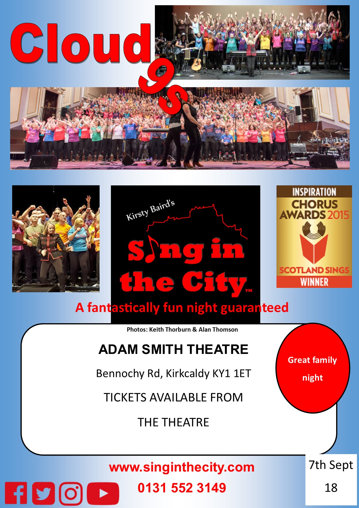 Poster for Sing in the City Cloud 9s second show