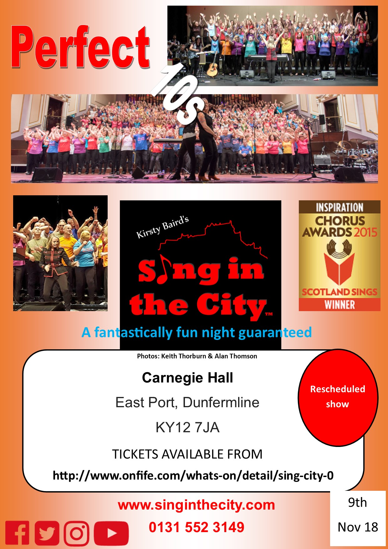 Poster for Sing in the City Perfect 10s (resheduled) show