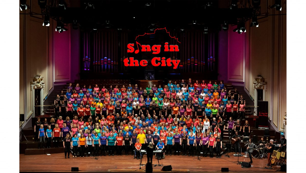 Poster for Sing in the City 10th Birthday at the Usher Hall
